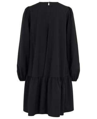Anemone embroidered A-line peplum dress N°21