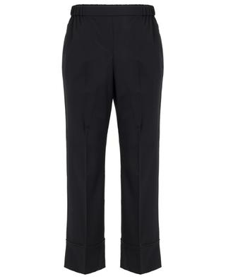 Cropped crystal-embellished wide-leg trousers N°21
