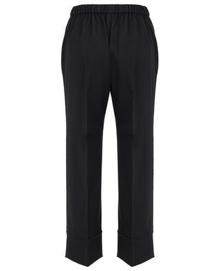 Pantalon large 7/8 détail strass N°21
