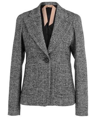 Fitted chevron wool blazer N°21