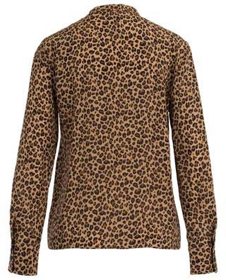Leopard print embellished silk blouse MARC CAIN