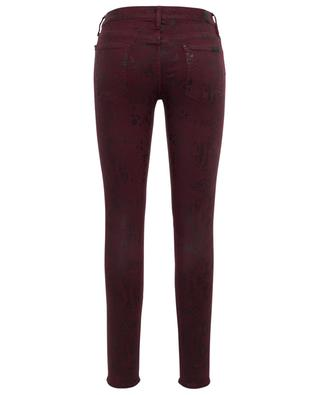 The Skinny Coated Ruby snakeskin effect jeans 7 FOR ALL MANKIND