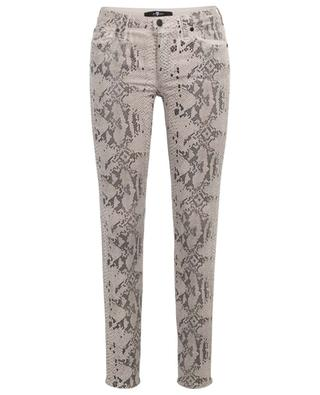The Skinny Coated Champagne snakeskin effect jeans 7 FOR ALL MANKIND
