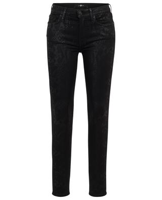 The Skinny Coated Black snake skin print jeans 7 FOR ALL MANKIND