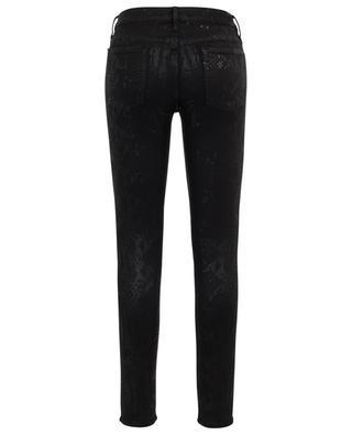 Jeans in Schlangenhautoptik The Skinny Coated Black 7 FOR ALL MANKIND