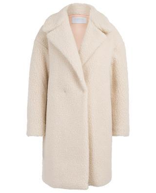 Wide faux shearling coat HARRIS WHARF