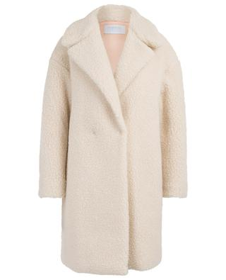 Wide faux shearling coat HARRIS WHARF