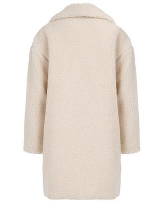 Manteau large en peau lainée synthétique HARRIS WHARF