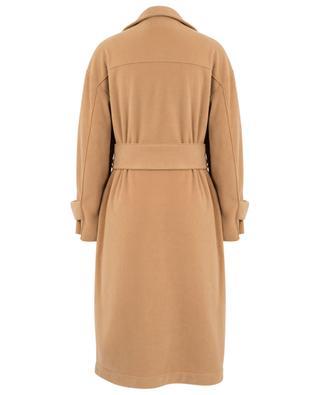Langer Mantel aus Fleece mit Gürtel HARRIS WHARF