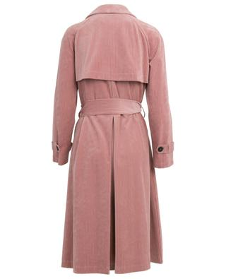 Corduroy trench coat with raglan sleeves HARRIS WHARF