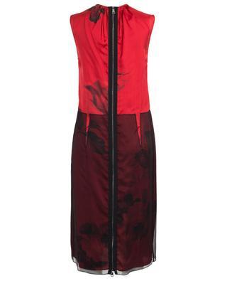Sleeveless viscose and silk midi dress N°21