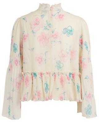 Floral print crepe blouse GANNI