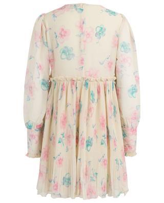 Geblümtes Kleid aus Krepp GANNI
