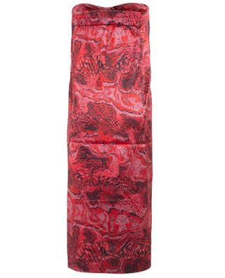 Jupe détail noué en soie imprimée serpent GANNI