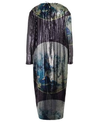 Long sequined planet design dress GANNI