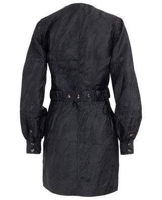 Mini-Wickelkleid aus texturiertem Jacquard GANNI