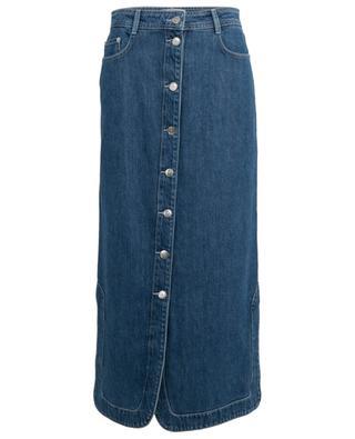 Button-down straight jeans skirt GANNI