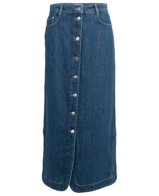 Button-down straight jeans skirt GANNI