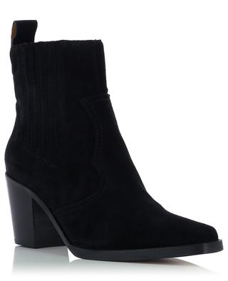 Suede slip on ankle boots GANNI