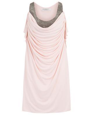 Crystal embellished strappy draped mini dress PHILOSOPHY