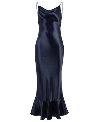 Stella long textured satin dress SALONI