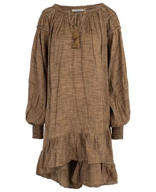 Robe trapèze ample texturée chevrons Brigandine MES DEMOISELLES