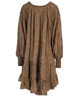 A-förmiges Kleid mit Fischgrätenmuster Brigandine MES DEMOISELLES