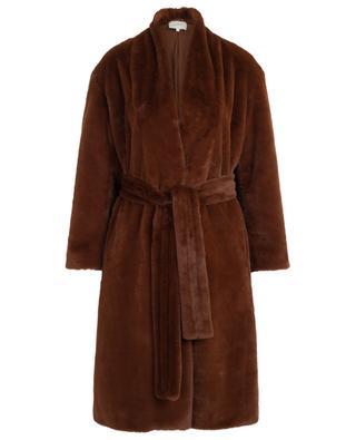 Manteau en fourrure synthétique avec ceinture VINCE