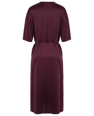 Kurzärmliges Midi-Kleid aus Seide VINCE