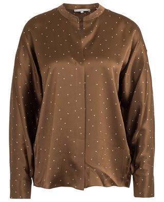 Polka dot print V-neck silk blouse VINCE