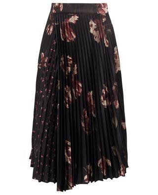 Floral print pleated midi skirt VINCE