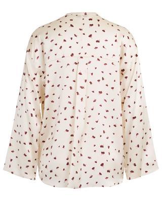 Fallen Petal floral silk satin blouse VINCE