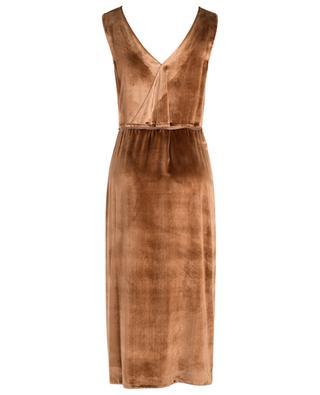Sleeveless panne velvet wrap dress VINCE