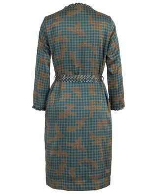 Tutu polka dot print crepe midi dress TOUPY