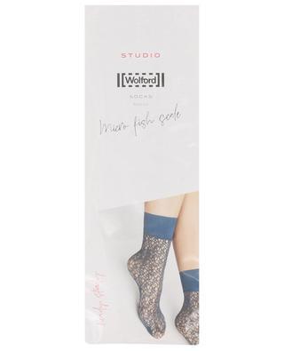 Micro Fish Scale net socks WOLFORD
