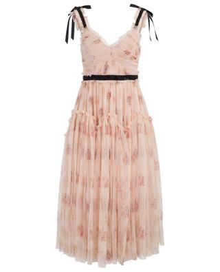 Think of Me Arabesque floral tulle midi dress NEEDLE &THREAD