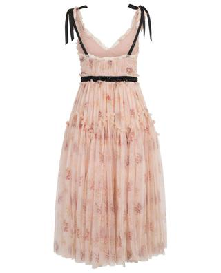 Mittellanges Kleid aus geblümtem Tüll Think of Me Arabesque NEEDLE &THREAD