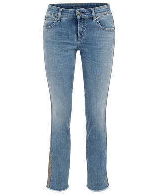 Verkürzte Jeans mit glitzernden Seitenstreifen Tess CAMBIO
