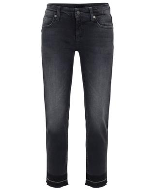 Tess cropped straight fit jeans with chain embroideries CAMBIO