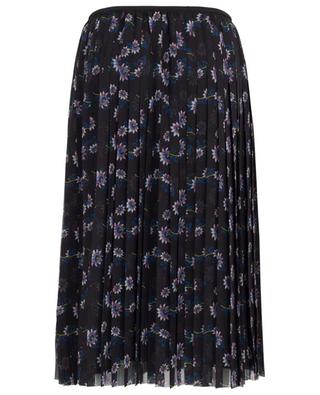 Passion Flower floral pleated midi skirt KENZO