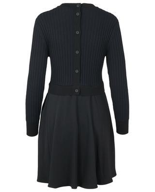 Robe courte bi-matière à manches longues KENZO
