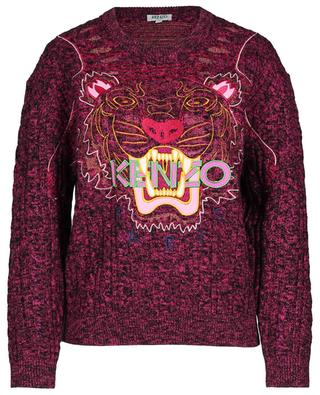 Pull col rond en laine mélangée Claw KENZO