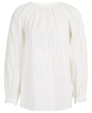 Graphic lace and scallop embellished poplin blouse SEE BY CHLOE