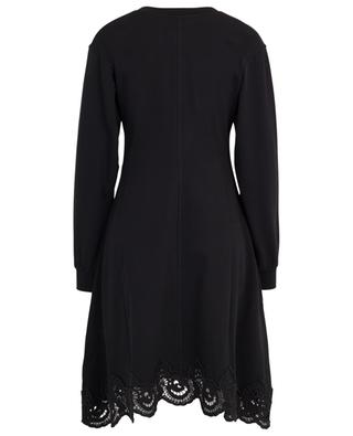 Guipure embellished flared sweat dress SEE BY CHLOE