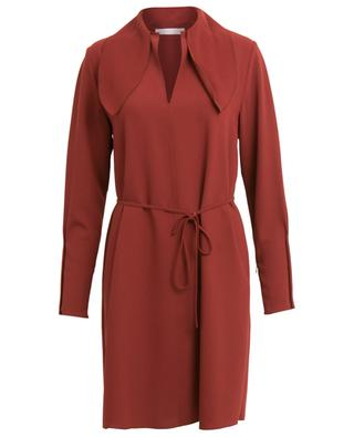 Robe courte en crêpe à lavallière courte SEE BY CHLOE