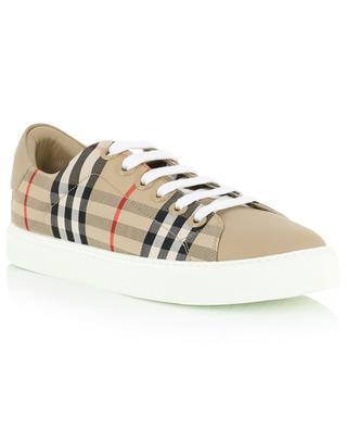 Albridge bi-material house check print sneakers BURBERRY