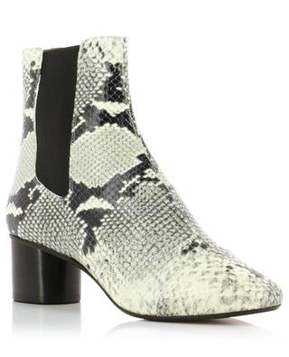 Danae python embossed leather ankle boots ISABEL MARANT