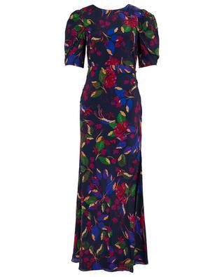 Annie B Indigo Carlotta long floral dress SALONI