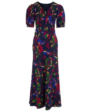 Annie B Indigo Carlotta long floral dress SALONI
