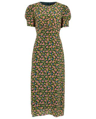 Bianca Alpine Bouquet long floral dress SALONI